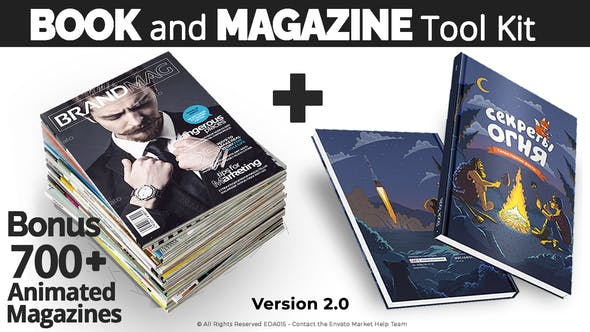 Book and Magazine ToolKit | 700+Premade Magazine Animations V2 27589024 - After Effects Project Files