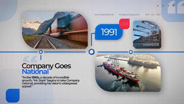 Business Company Timeline 31887364 - After Effects Project Files