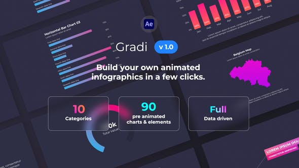 Gradi - Gradient Infographics 32098103 - After Effects Project Files