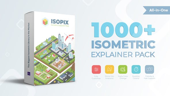 Isopix - Isometric Explainer Pack  V1.0 31944698 - After Effects Project Files