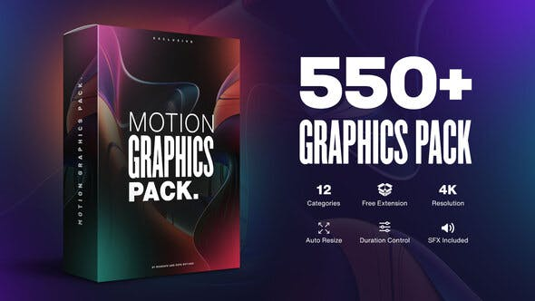 Motion Graphics Pack // 550+ Animations Pack V2.1 23678923 With Crk  - After Effects Project Files