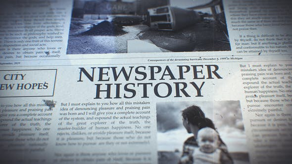 Newspaper History 23664096 - After Effects Project Files