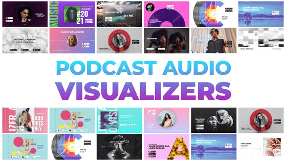 Podcast Audio Visualizers 32505559 - After Effects Project Files