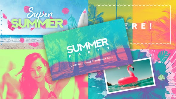 Summer Party Intro 32387903 - After Effects Project Files