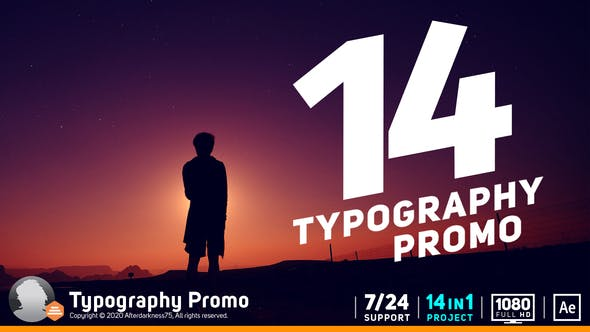 Typography Promo / Stomp V14 19359800 - After Effects Project Files