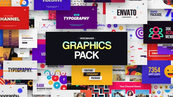Videomaker Graphics Pack 32196607 - After Effects Project Files