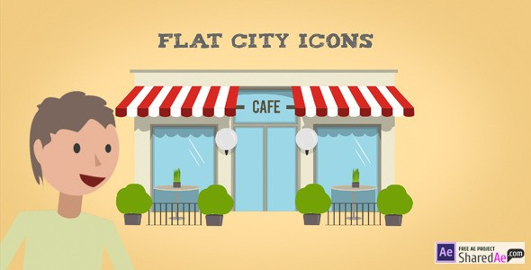 Flat City Icons 9176525 - Videohive shareDAE