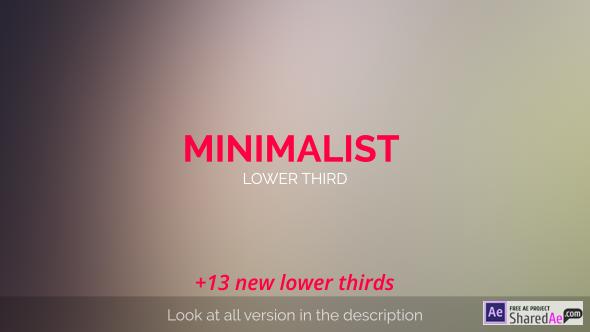MInimalist Lower Third 11766370 - Videohive shareDAE
