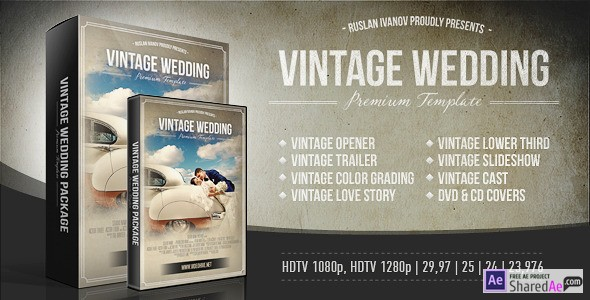 Vintage Wedding Package 4891310 - Videohive shareDAE