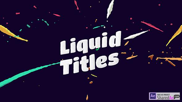 Liquid Animation Titles 12726610 - Videohive shareDAE