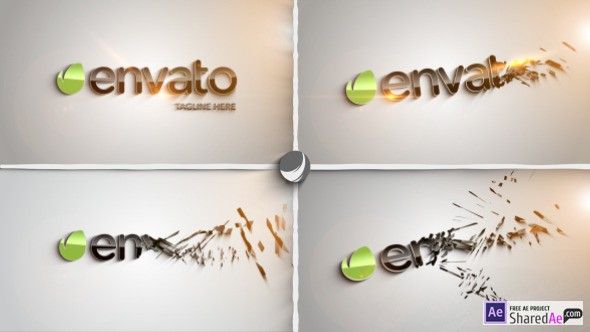 Clean Part Logo Intro 8454537 - Videohive shareDAE