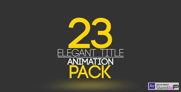 23 Elegant Title Animation 9693080 - Videohive shareDAE