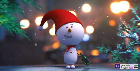 Snowman Intro 9663947 - Videohive shareDAE