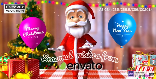 Christmas-Happy Santa 9694414 - Videohive shareDAE