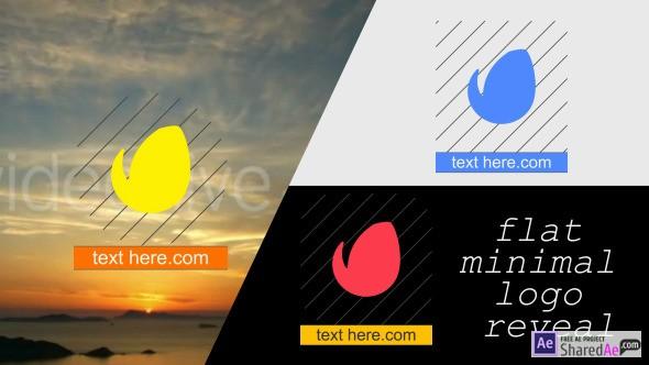 Flat Minimal Logo Reveal 9707222 - Videohive shareDAE
