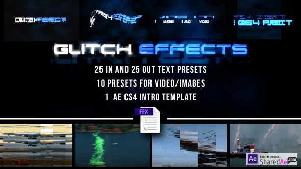 Videohive Glitch Presets for Text and Video 7605934 - Free Download