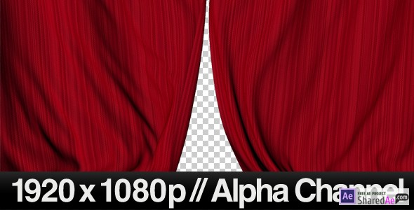 Realistic Red Curtains Closing  161357 - Free Download