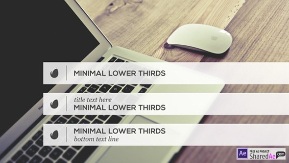 Minimalist Lower Thirds Template 9798888 - Free Download
