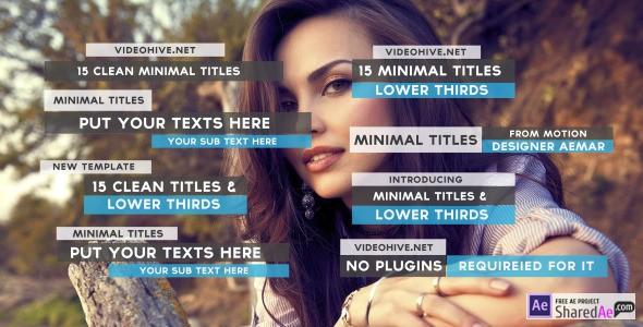 15 Clean Minimal Titles 10126277 - Free Download