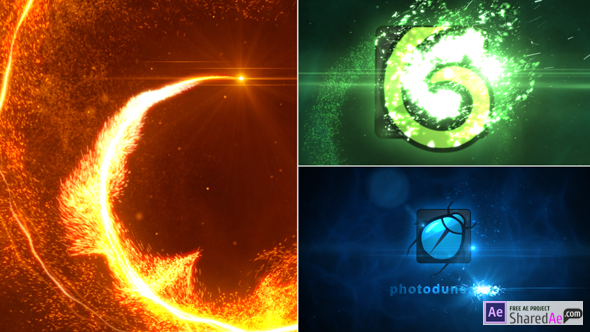 Particle Vortex Logo Reveal 10117585 - Free Download
