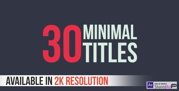 30 Minimal Titles 9458306 - Free Download