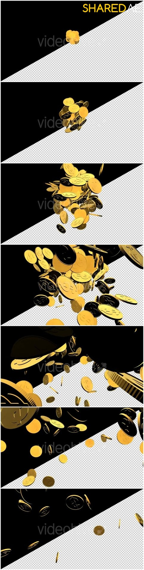 3D Gold Coins Explosion 20176272 - Free After Effects Template