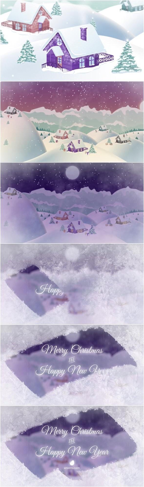 Videohive - Christmas Village Landscape 20898385