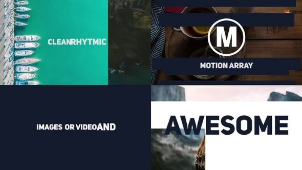 Dynamic Stomp Typography Slideshow - Premiere Pro Templates 59041