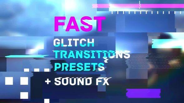 Fast Glitch Transitions Presets 59125 - Premiere Pro Templates