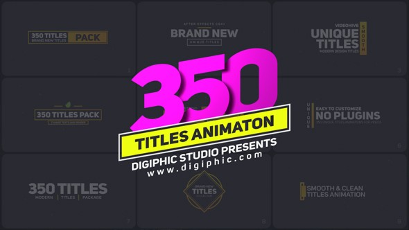 Videohive Titles 21243068 - Free After Effects Project Files