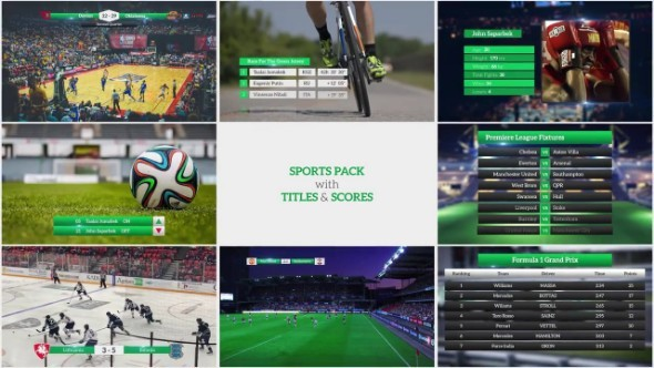 Sports Pack With Titles And Scores 63937 - Premiere Pro Templates