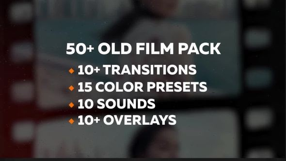 50+ Old Film Pack Transitions, Color Presets - Premiere Pro Templates 67916