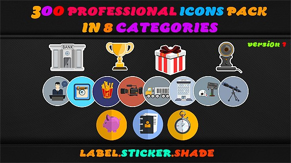 Videohive Animated Icons Professional Pack 9266949