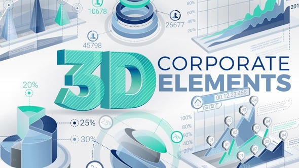 Videohive 3D Corporate Elements 21161402