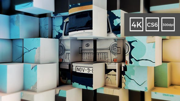 Videohive 3D Cubes Wall Slideshow in 4K 21136123