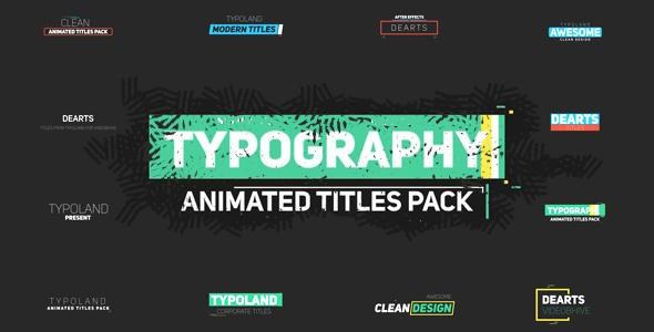 Videohive 75 Typography 21103442