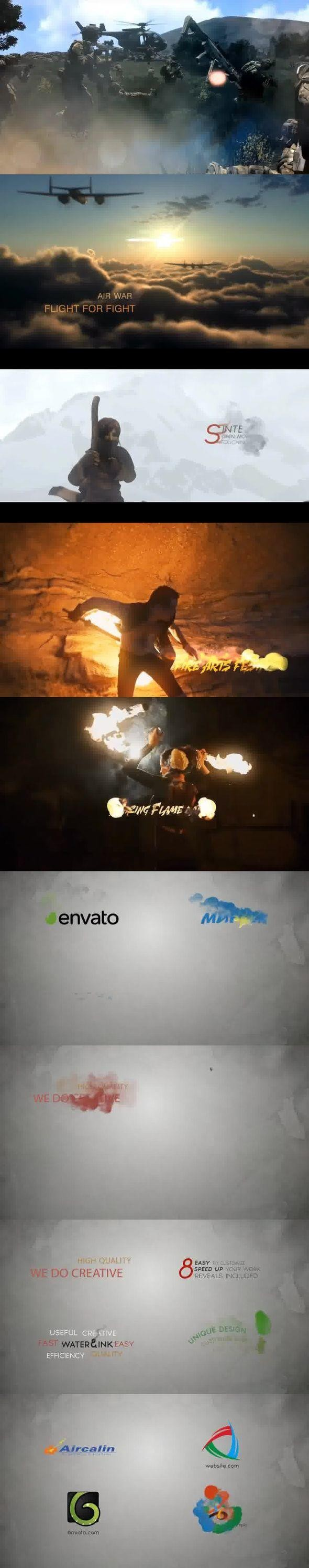 Videohive Minimal Ink&fire Logo/Title Reveals Package 12131344