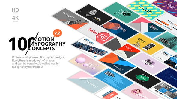 Videohive 50 Motion Typography Concepts 21141394
