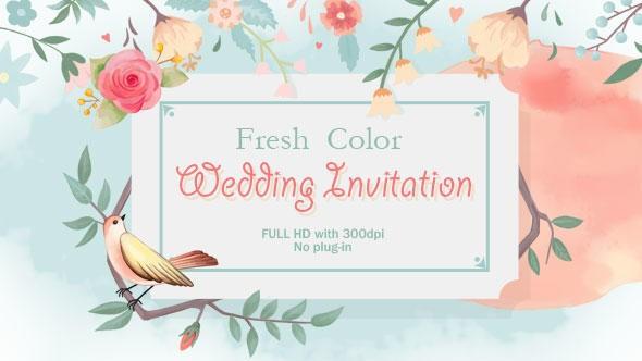 Videohive Fresh Color Wedding Invitation 15882841