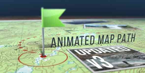 Videohive Animated Map Path v.3 17511599