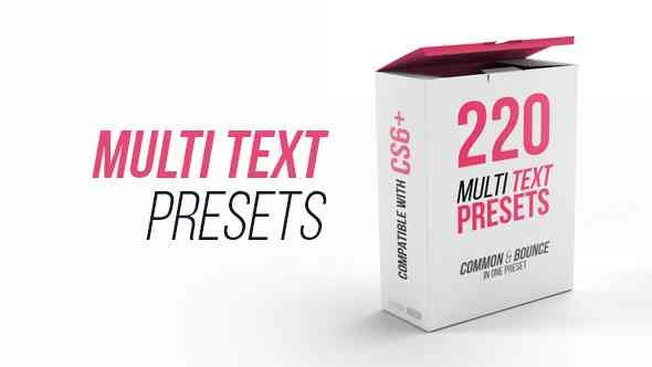 Videohive Multi Text Presets 21555457