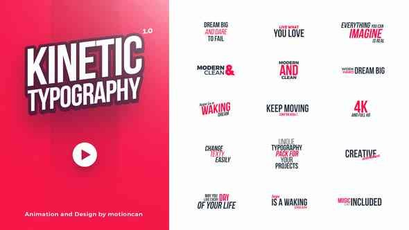 Videohive Kinetic Typography 20578796