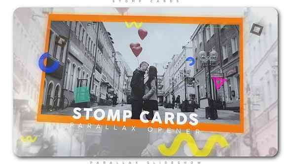 Videohive Stomp Cards Parallax Opener 20402797