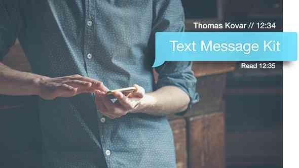 Videohive Text Message Kit 12365998 V2.2