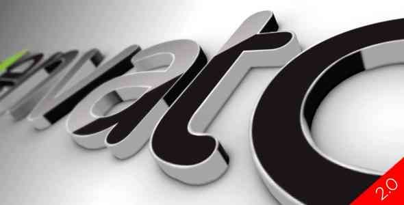 Videohive Black Classic 3D Logo V2 519447