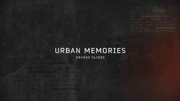 Videohive Urban Memories // Grunge Slides 16848790