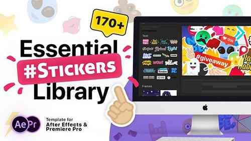 Videohive Essential Stickers Library 21180366