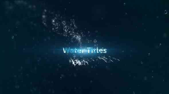 Videohive Water Titles 18458721