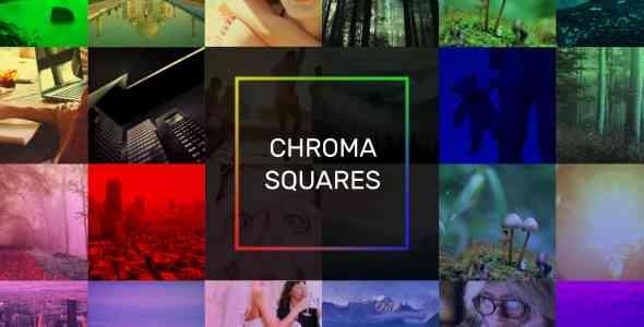 Videohive Chroma Squares Dynamic Slideshow 20362587