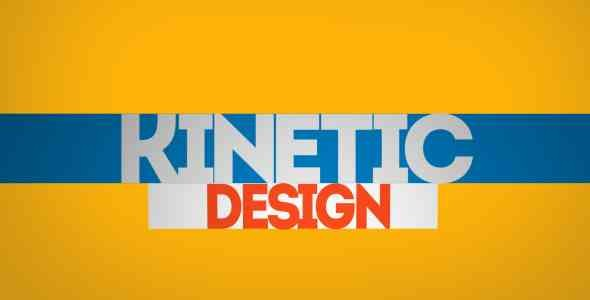 Videohive Kinetic Typo 4525737